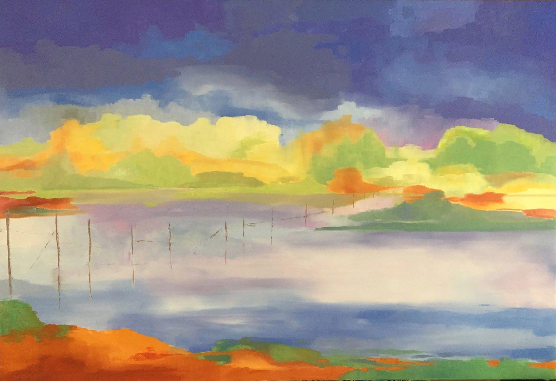 Sur Les Marais 1<br /> Oil on Linen<br /> 89 cm x 130 cm