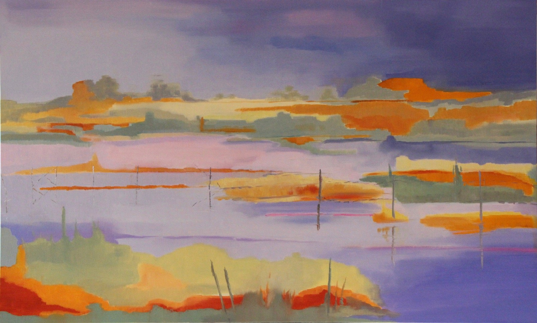 Sur les Marais 2<br /> Oil on Linen<br /> 89 cm x 146 cm