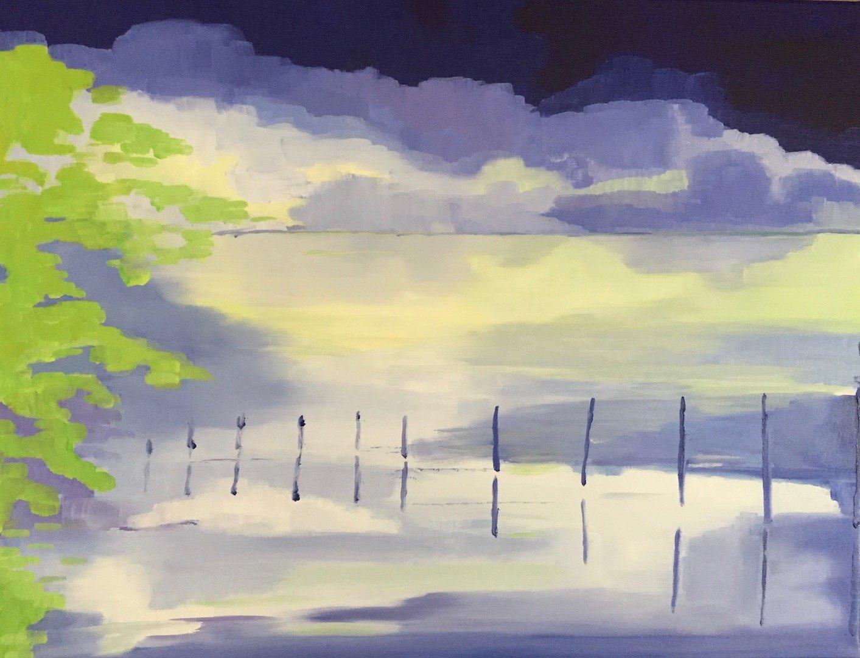 Mas Sainte Helene<br /> Oil on Linen<br /> 60 cm x 75 cm