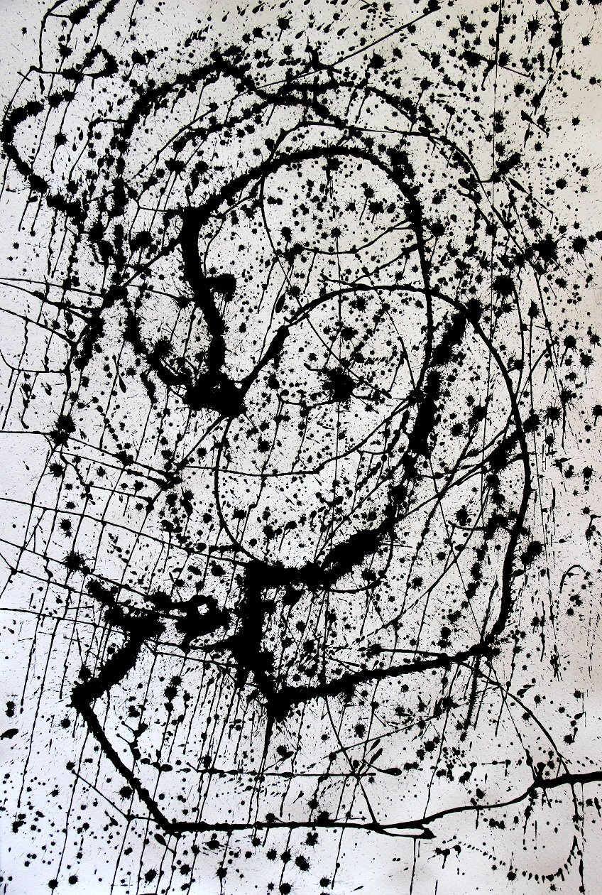 Woman and Horse 102 x 66 cm Ink on 300 gms Arches