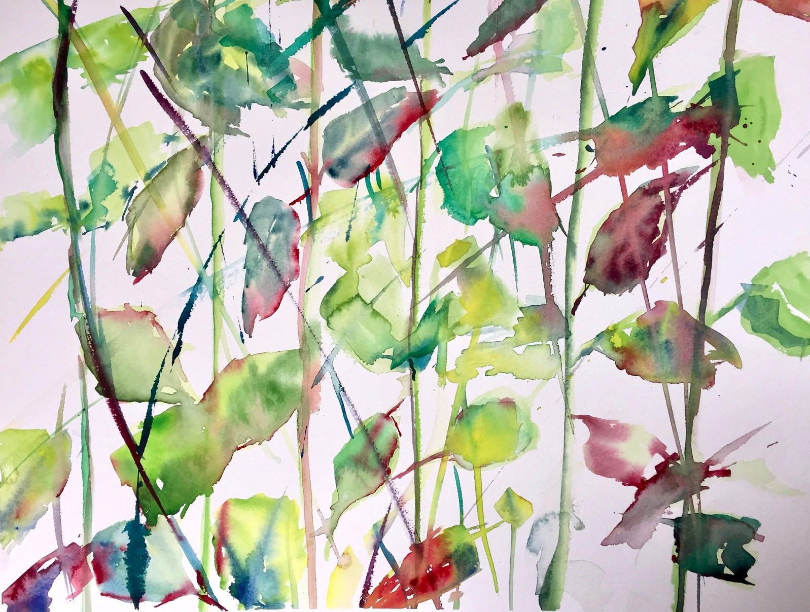 Winter Roses 8<br /> Watercolour on Arches 640 gms<br /> 47 cm x 76 cm